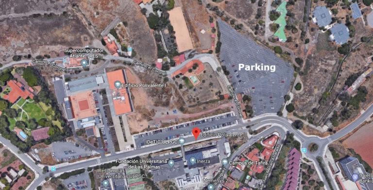 Plano del parking
